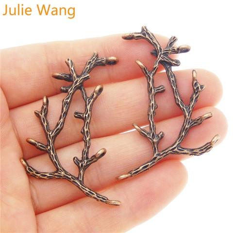 Julie wang 5 шт красные медные украшения мини ветви Форма Подвеска