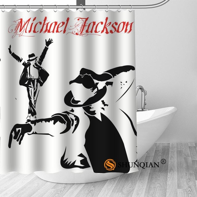 12 Michael jackson shower curtain washable thickened 5c64f7a44eda9