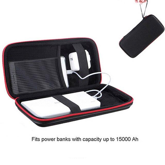 Funda de almacenamiento de Banco de energía duro PU para Anker Rock PISEN Baseus batería externa batería portátil bolsa de viaje personalizada
