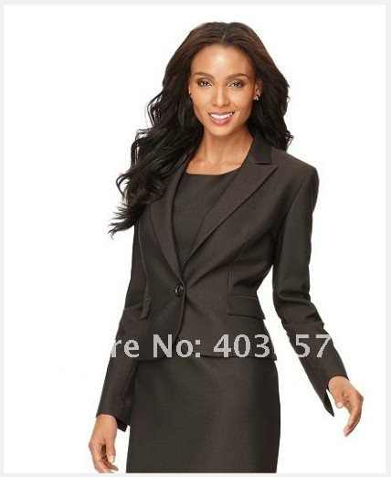 f61b805d ... Black Women Suits Women Clothing Single Button Notched Collar Jacket & Sheath  Dress Clothing Stores Tailor ...