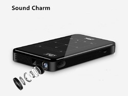 Sound Charm Mini Android Projector S7 Built-in WIFI, Bluetooth, 4,000mAH Battery HDMI Input Support 4K 1080P, Portable Theater