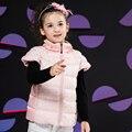 2016 Crianças Outono Inverno Colete Marca Sólida Meninas Colete 3-8 Anos Crianças Roupa Quente Meninas Do Bebê Colete Outerwear