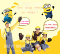 2017 New Parental Child Adults Men Women Minion Costume Halloween Anime Mini Despicable Me Cosplay Costumes Suit Party Clothes