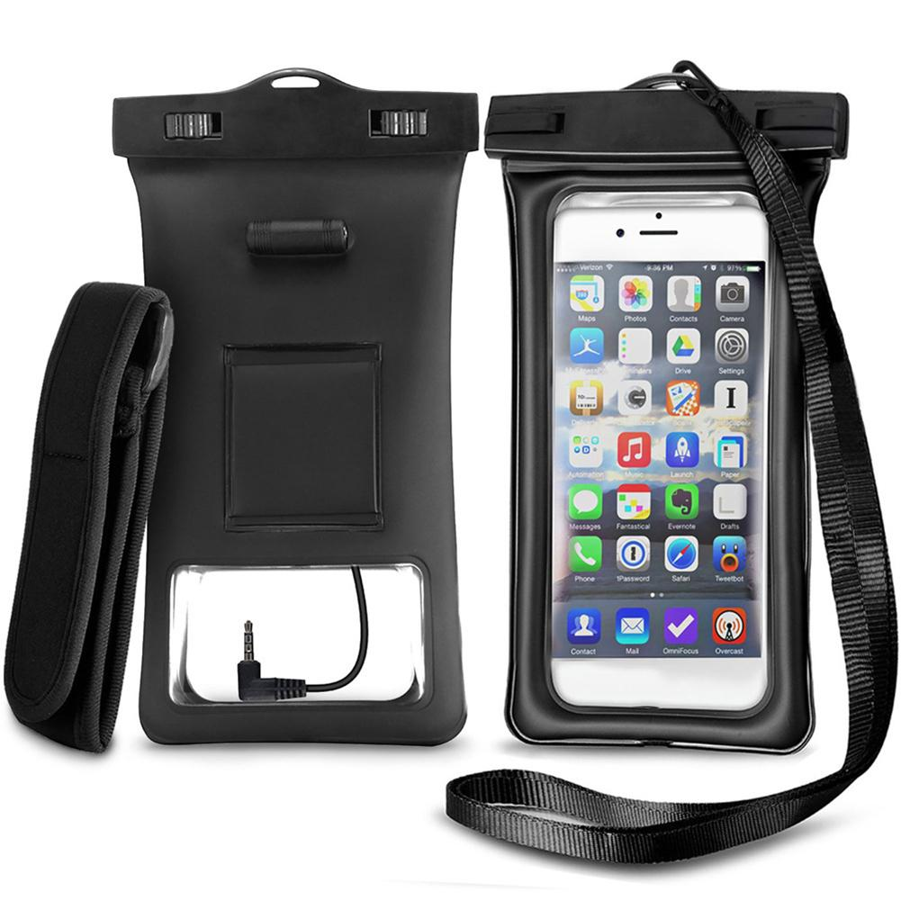 Phone Pouch With Highly Sensitive Touch Response And Headphone Jack,Waterproof Phone Bag With Arm Band And Adjustable Lanyard