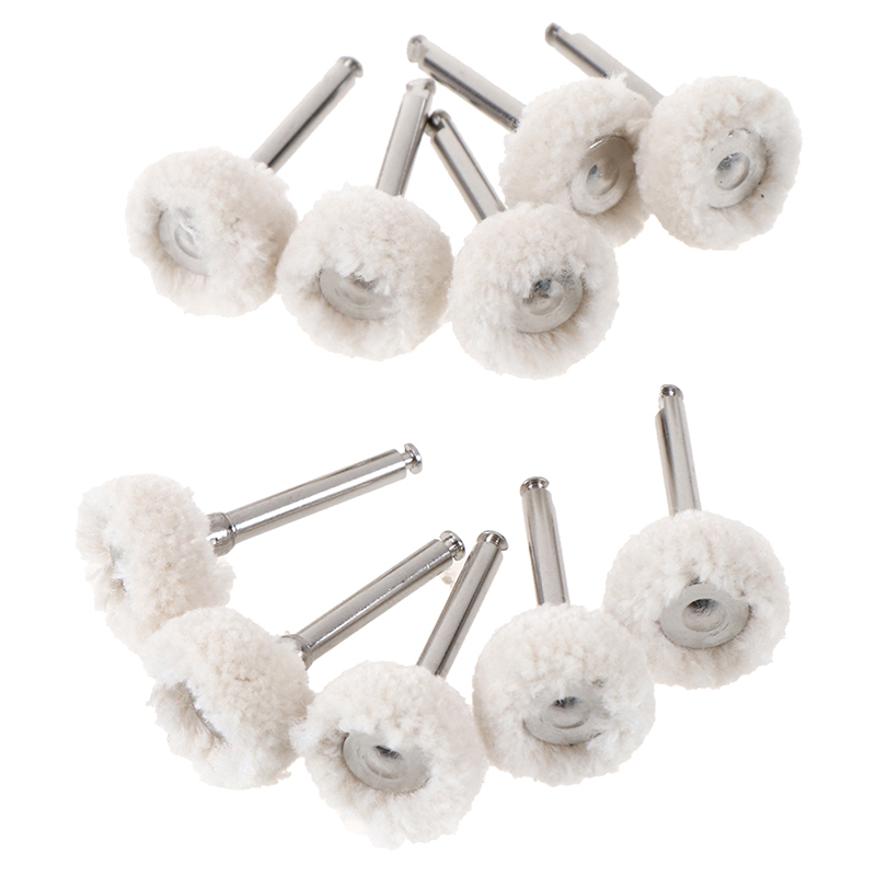 10Pcs/Set New Dental Polishing Wheel Wool Cotton Polishing Pad Brushes Rotary Tools(China)