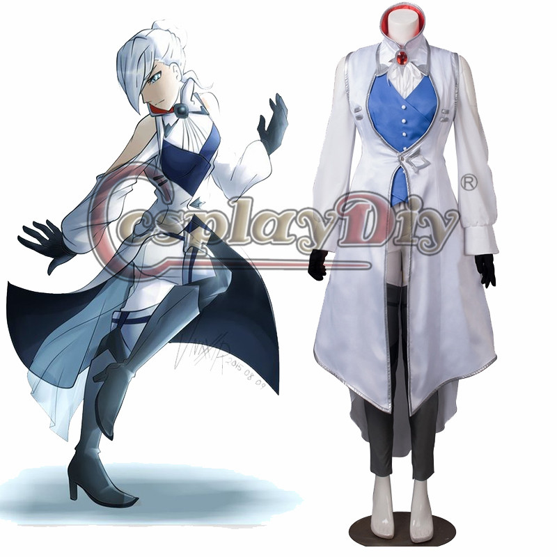 Cosplaydiy RWBY Season 3 Winter Schnee Ice Queen Cosplay Costume Adult Women Halloween Cosplay Outfit Custom Made