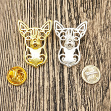LPHZQH trendy cute Chihuahua dog Broches and pins Collar Pin Jewelery Clothing Accessories Men's Gift