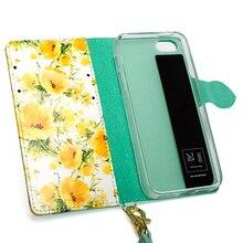 Топ из искусственной кожи флип бумажник чехол для iPhone 6 6s 7 8 Plus X красивые цветы запах милый Для женщин телефон сумка Коке для iPhone 8