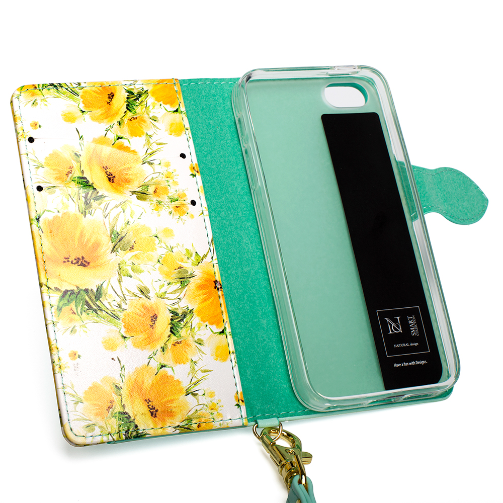 Top PU Leather Flip Wallet Case For iPhone 6 6s 7 8 Plus X Beautiful Flowers Smell Cute Women Phone bag Case Coque For iPhone 8