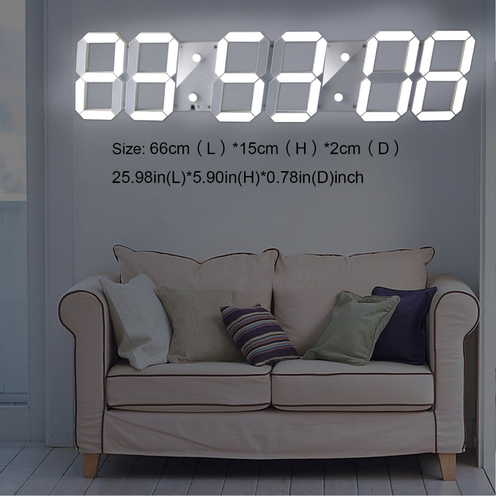 Super large digital led alarm clock wall clock remote control super large digital led alarm clock wall clock remote control countdown timer sports timer stopwatch in wall clocks from home garden on aliexpress amipublicfo Images