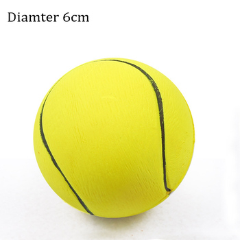 1pcs Diameter 6cm Squeaky Pet Dog Ball Toys, Rubber Chew Puppy Toy Dog 6