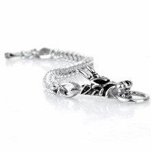 Titanium multifunctional edc tool, simple titanium steel animal faucet bracelet, punk locomotive male stainless bracelet