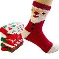 Рождественский Подарок Осень Зима Повседневная Мягкие Девушки женщин Короткий Носок Мягкие Плюшевые Комфорт Теплые Носки Женские Носки