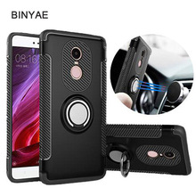 For Xiaomi Redmi note 4X Case Car Holder Stand Magnetic Suction Finger Ring PC+TPU Armor Xiomi Note 4 pro Global Version Cover