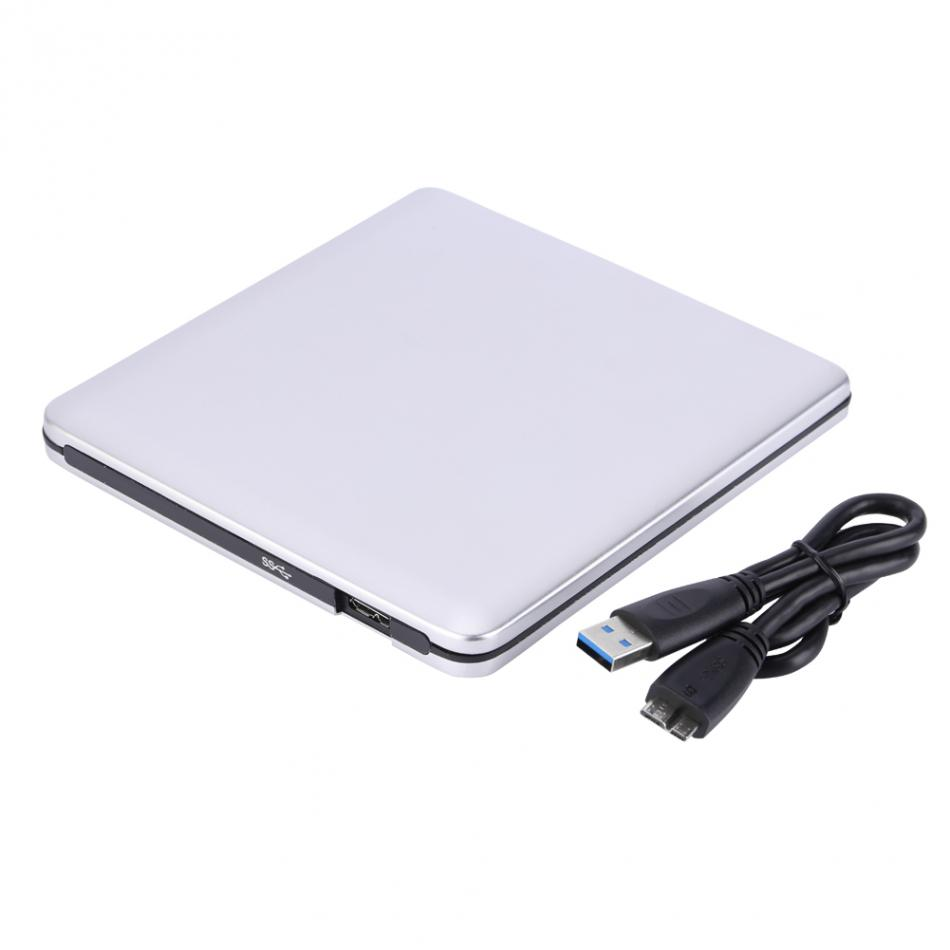 <font><b>USB</b></font> <font><b>3.0</b></font> External <font><b>DVD</b></font>/CD-RW <font><b>Drive</b></font> Burner Slim Portable Driver For MacBook Laptop Desktop Netbook Universal Free Shipping image