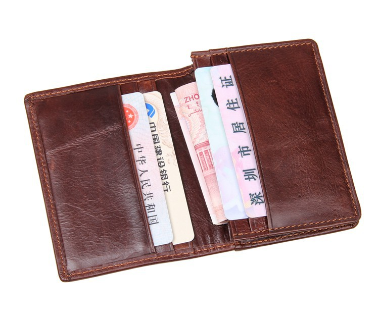 High Quality Men Genuine Leather Wallet Business Casual Credit Card ID Holder Cowhide Leather Money Card