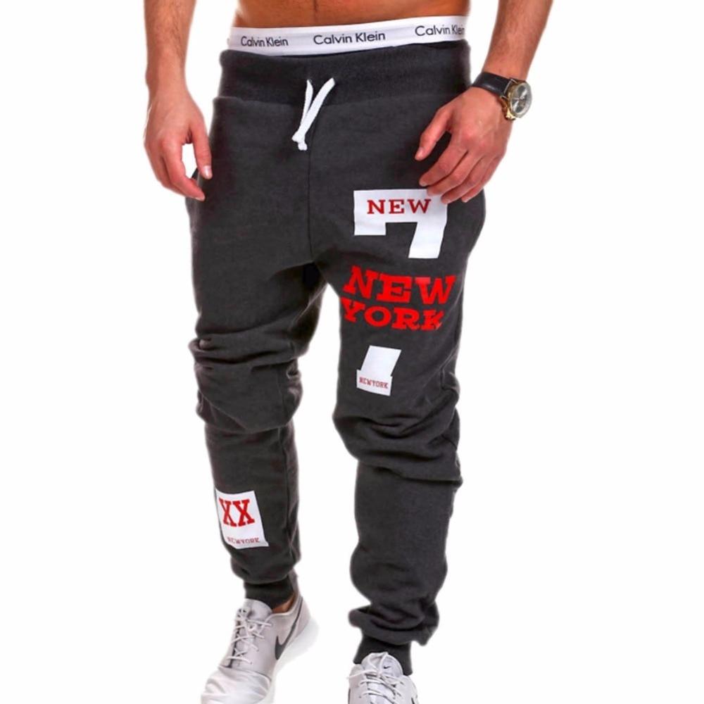 ركض رجالي 2018 العلامة التجارية الذكور سراويل الرجال السراويل عارضة السراويل Sweatpants عداء ببطء أسود حجم كبير 4XL ADBB