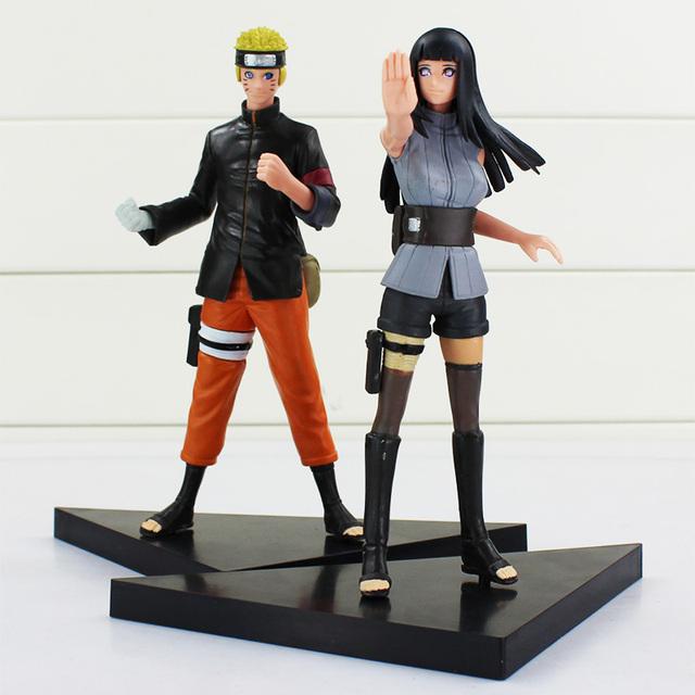 2pcs/set 16cm Naruto Anime Uzumaki Naruto Hyuga Hinata PVC Action Figure Model Collection Toy