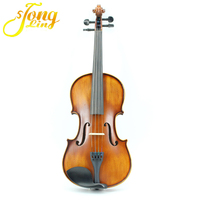 3/4 Violin Natural Acoustic Solid violino for Beginners Students practise violon Ebony Accessories Carbon Fiber Plate free ship