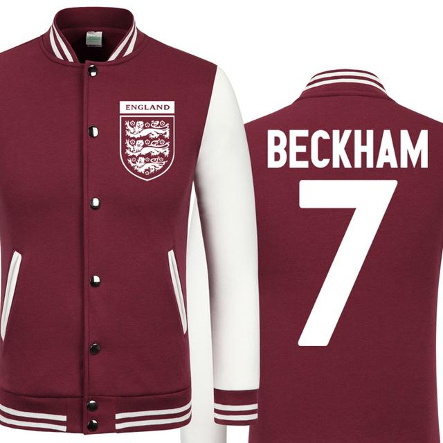 DUZJIN World Cup David Beckham thick velvet baseball uniform men's Jackets camiseta barcelonae 2016 barcelonae kids tracksuit