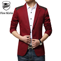 Fire Kirin Men Blazer Pattern 2017 New Arrival Slim Fit Mens Blazer Famous Brand Casual Suit Jacket Stylish Import Suits Q22