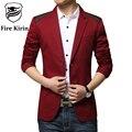 Kirin fuego Hombres Chaqueta Patrón 2017 Nueva Llegada Slim Fit Chaqueta para hombre Famosa Marca Casual Chaqueta de Traje Elegante Trajes de Importación Q22