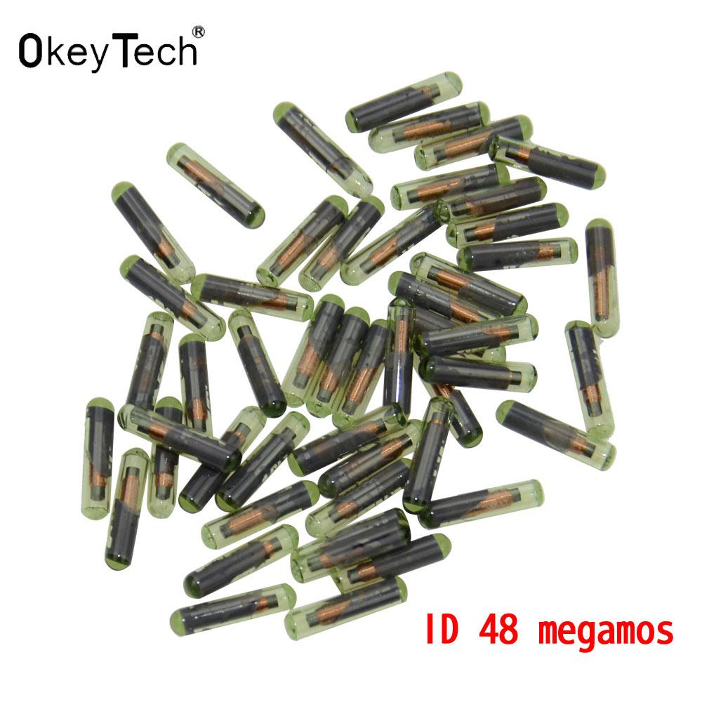 Okeytech 10 шт. Профессиональный ID48 Стекло чипа ключа автомобиля для сиденья Skoda tp24 TP22 авто чип ID 48 oem megamos крипто чип