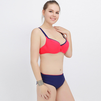 2016 Push Up Plus Size Women Swimwear Solid Color Swimsuit Female Big Chest Bathing Suit Biquini