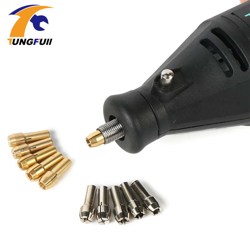 Tungfull Mini Drill Brass Collet Chuck Dremel Accessories Electric Grinding Accessories 0.5-3.2mm Mini Electric Drills Chuck