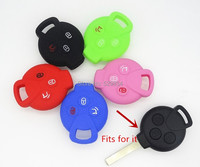 3 Button Silicone Key Cover For Mercedes Benz Smart Coupe Roadster Fortwo Forfour Car Key Case