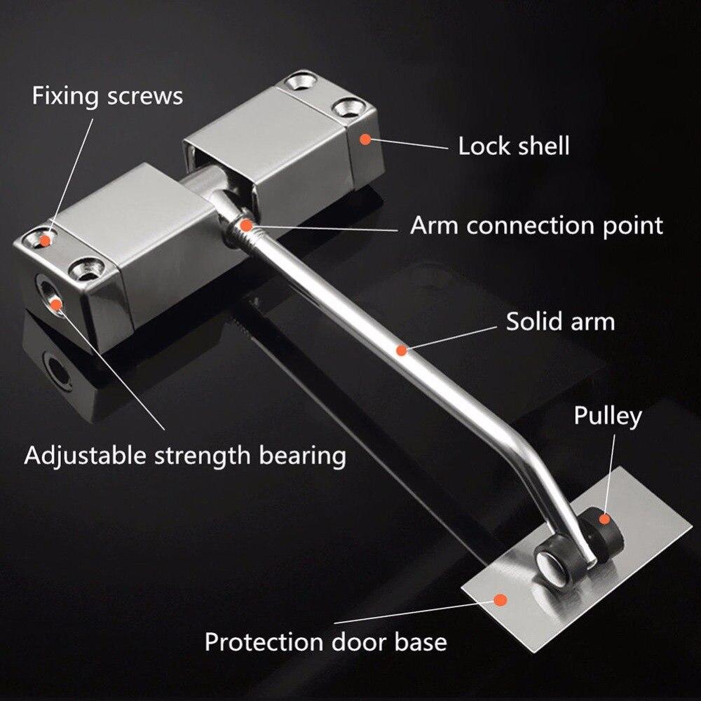 Дверной доводчик с одной пружиной, регулируемое поверхностное крепление, нержавеющая сталь, автоматическое закрывание, противопожарная дверная фурнитура
