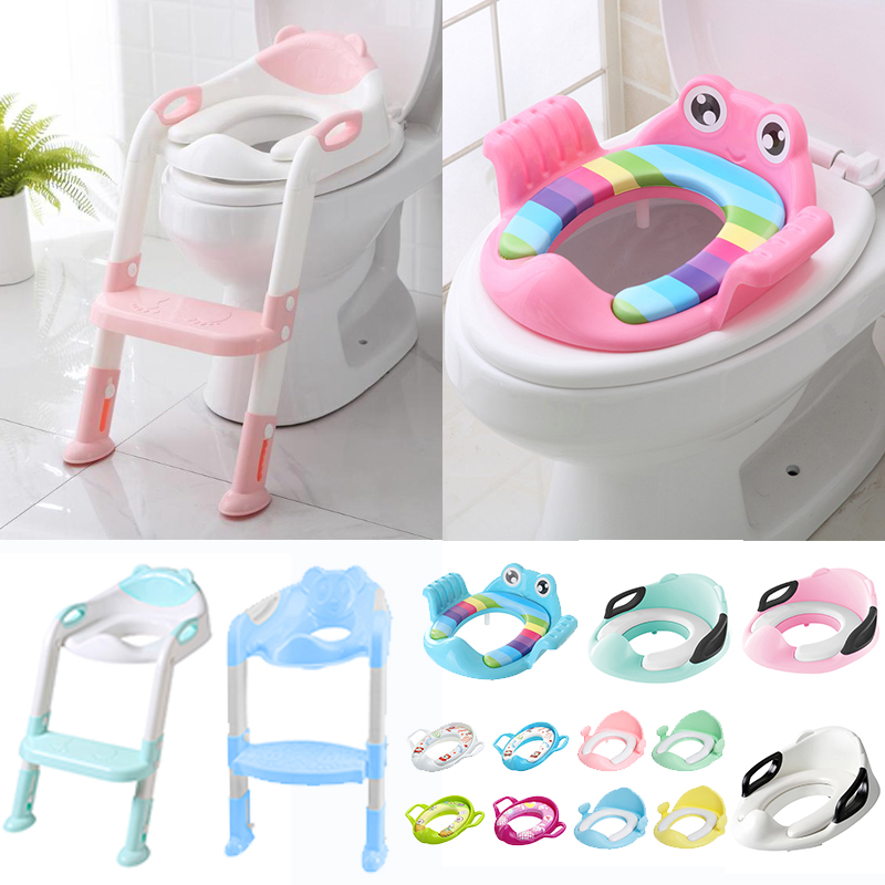 Baby Potty With Adjustable Ladder Baby Potty Training Seat Infant Kids Toilet Folding Seats Child Toilet Seat For Kids Training