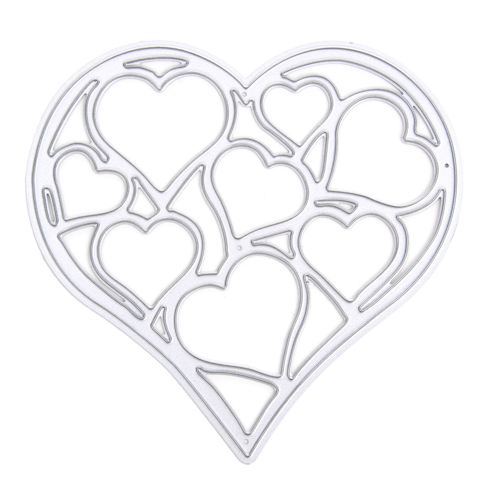 Steel Loving Heart Cutting Dies Stencils For DIY Scrapbooking Photo Album Embossing Decorative Craft Best Gift to Deliver Love
