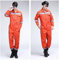 Nature Cotton Safety Coverall Mechanical Working Suit Safety Clothing With Reflective Tape Free Shipping
