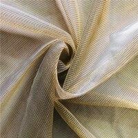 Lace47 5meters 5colors Knitted Nylon Metallic Mesh Fabrics Filament Semi transparent Pajamas Summer Dress Evening Dress Fabrics