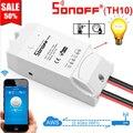 Умный переключатель Sonoff TH10 с Wi-Fi, беспроводной переключатель, модули для умного дома с датчиком температуры и монитором влажности с Alexa Google ...