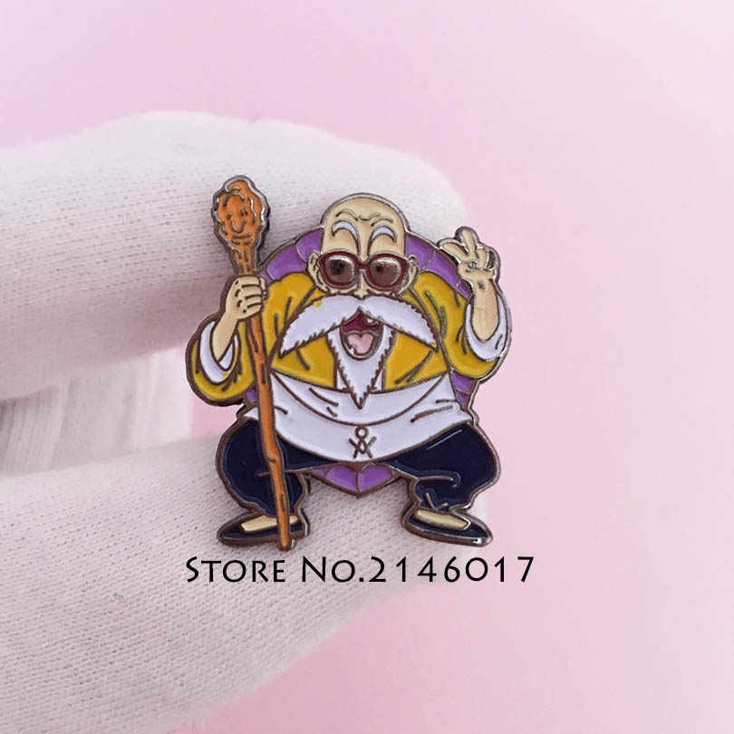 20pcs Dragon Ball Son Goku Master Roshi Tie Brooch Custom