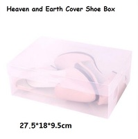 8pcs Lot Heaven And Earth Cover Storage Box House Organizer Transparent Clear Plastic Shoe Box Stackable