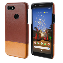 for Google Pixel 3a XL 3A Case Slim Hard PC Back PU Leather Cover Anti-Scratch Protective