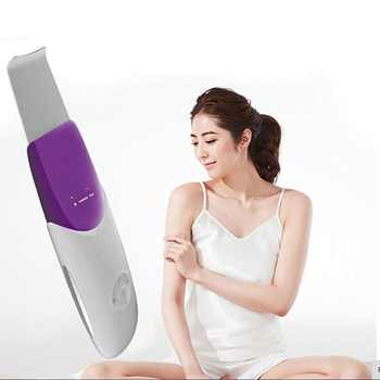 Ultrasonic Skin Scrubber Ultrasound Facial Pore Cleaner Anion Ultrasonic Face Skin Peeling Lifting Massager Facial Scrubber