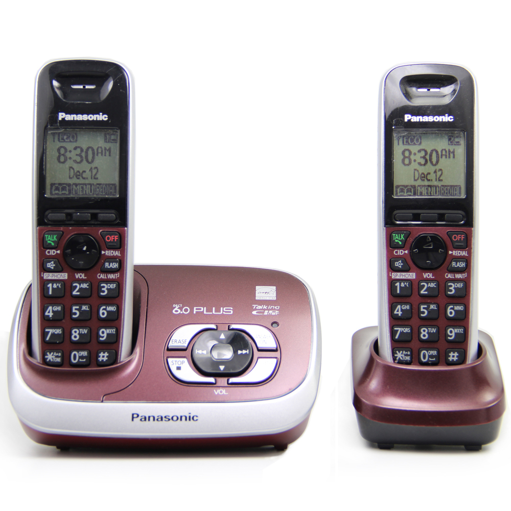 KX-TG 6531 DECT 6.0 PLUS Expandable Digital Cordless Phone with Answering System Home Telephone Set, 2 handsets