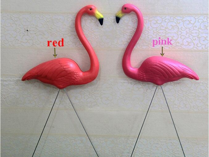 2Pcs Flamingo Ornament Home Garden Lawn Decoration Christmas theme party Decor Balcony Decor Creative Wedding Decorations 05361 2