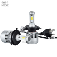 2PCS Super Bright H4 Led Bulb 72W 8000LM 6500K Car Led Headlight 12V MOTO Auto Fog
