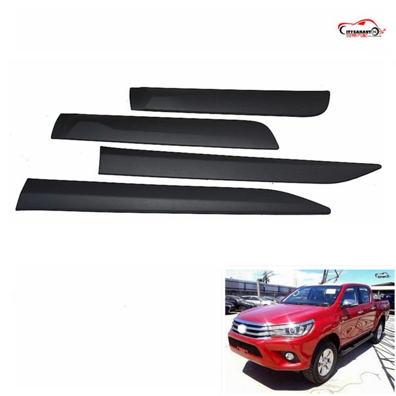 citycarauto hilux accessories body kits trim Injection Black Side Molding fit for hilux revo 2015 -2017 2016 toyota hilux revo window accessories abs chrome window gate trim for toyota hilux revo 2015 2016 chrome decoretive trim