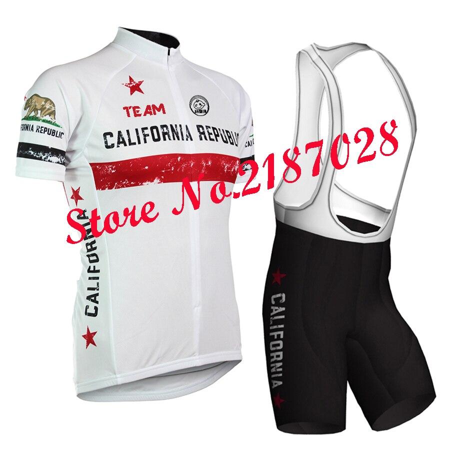 CALIFORNIA REPUBLIC Cycling Jersey Bib Short Kit