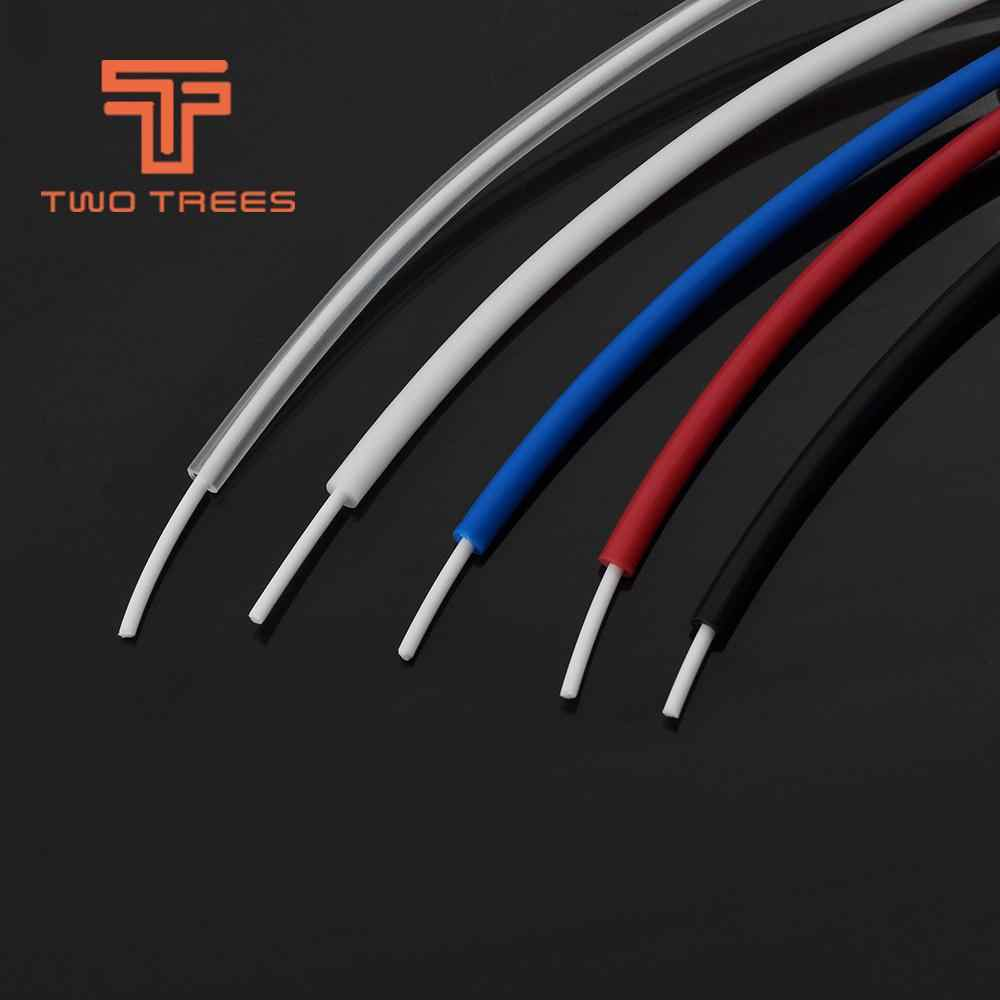 1M 3D printer accessories Blue PTFE tube remote nozzle feeding tube 2X4mm High temperature resistance for Ender 3 CR10 Printer
