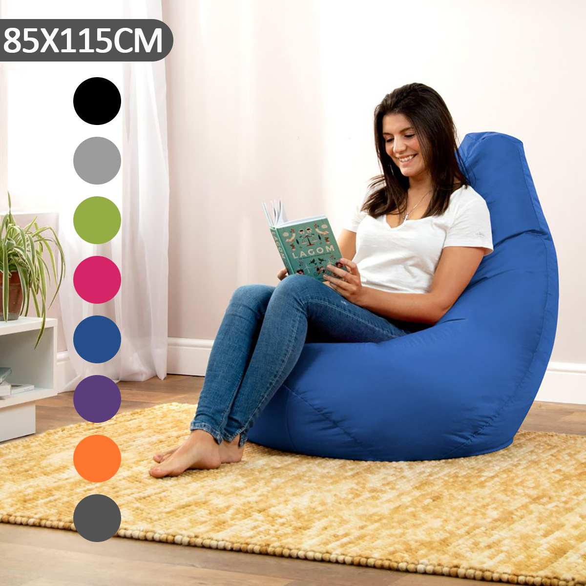 Us 23 9 40 Off Large Bean Bag Sofa Cover Lounger Chair Ottoman Seat Living Room Furniture Without Filler Beanbag Bed Pouf Puff Couch Tatam In