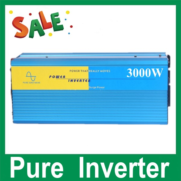 Free Shipping New Arrive 3000W Power Inverter Pure Sine Wave  DC 12V to AC 220V Solar/Wind/Car/Gas Power Generation Converter цена 2016