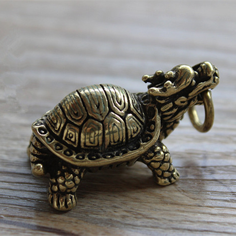 Tortoise Knife Beads Brass Lucky Turtle Basalt Turtle Pendant EDC Multi Tools Keychain