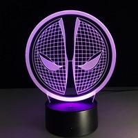 Superhero hombre figura Spiderman noche 3D lámpara 7 Color LED gradiente noche luz táctil interruptor LED lámpara de noche creativa festiva